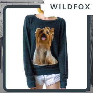 🆕 🐕 NWT WILDFOX Granny's Dog Baggy Beach Jumper